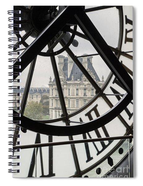 Spiral Notebook featuring the photograph Paris Clock by Brian Jannsen