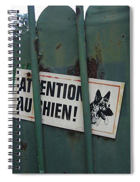 Paris - Farm Dog Spiral Notebook