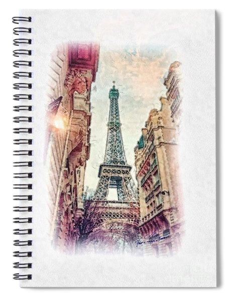 Paris Mon Amour Spiral Notebook