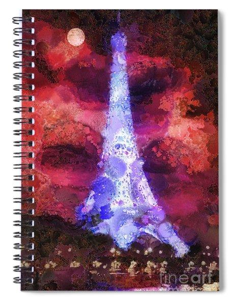 Paris Night Spiral Notebook