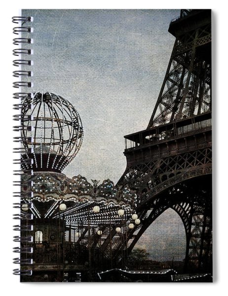 Paris One More Ride Spiral Notebook