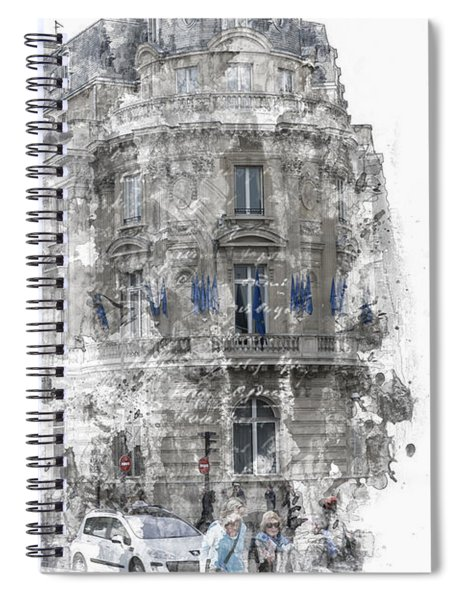 Paris With Flags Spiral Notebook