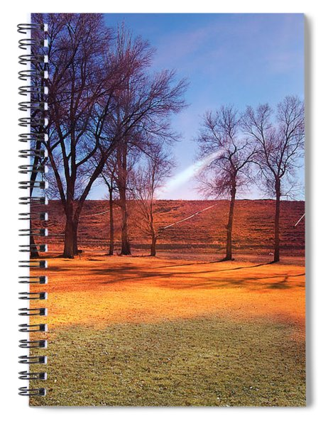 Park In Mcgill Near Ely Nv In The Evening Hours Spiral Notebook