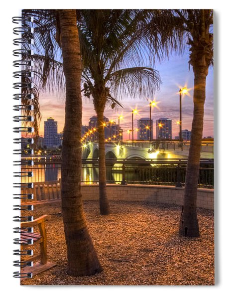 Park On The West Palm Beach Wateway Spiral Notebook