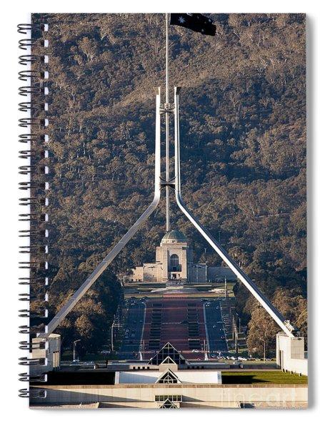 Parliament And War Memorial Australia Spiral Notebook