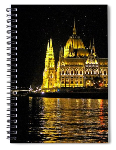 Parliament At Night Spiral Notebook