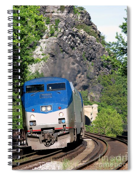 Passenger Train Locomotive Spiral Notebook