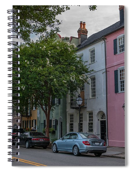 Pastel And Pale-colored Houses Spiral Notebook