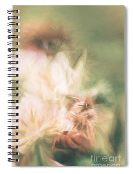 Pastel Painting Of A Honeybee Insect  Spiral Notebook