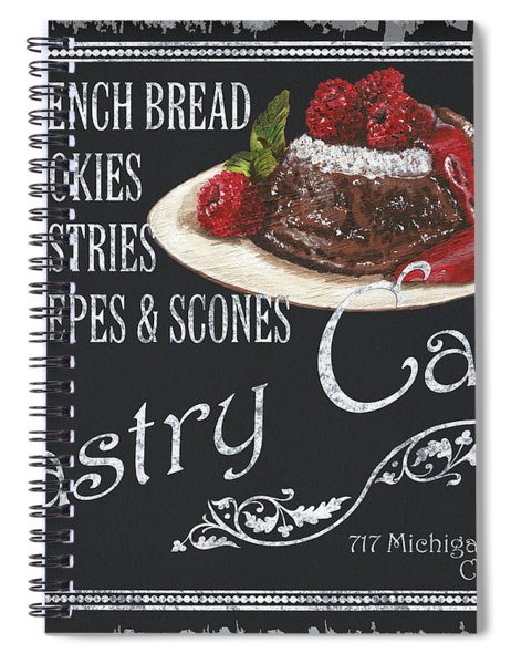 Pastry Cafe Spiral Notebook by Debbie DeWitt