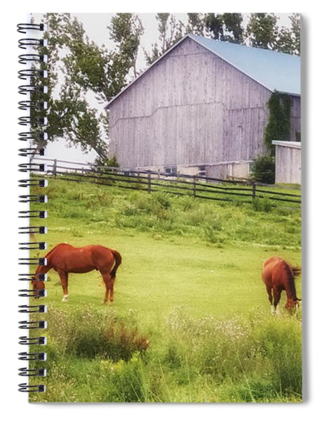 Spiral Notebook featuring the photograph Pasture by Garvin Hunter