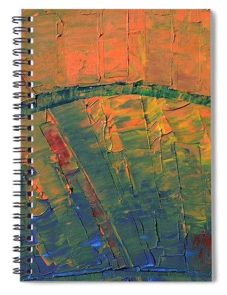 Patches Of Red Spiral Notebook