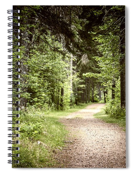 Path In Green Forest Spiral Notebook