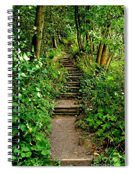 Path Into The Forest Spiral Notebook