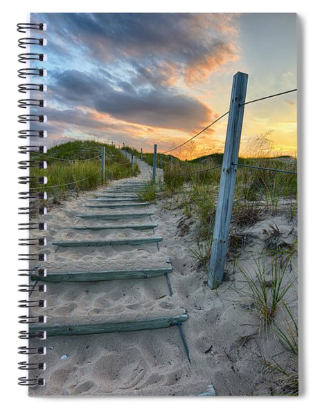 Path Over The Dunes Spiral Notebook