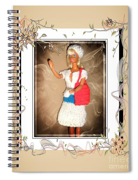 Patriotic Babe - Fashion  Doll - Girls - Collection Spiral Notebook