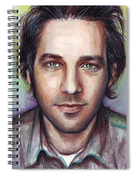 Paul Rudd Portrait Spiral Notebook