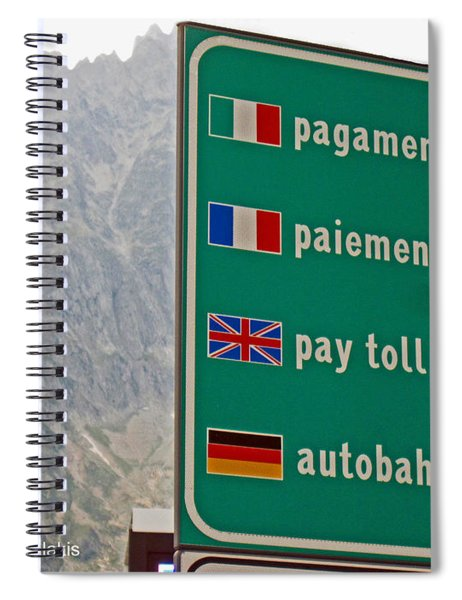 Pay Toll Italy Spiral Notebook