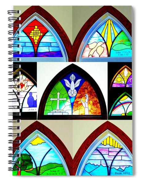 Peace To All Who Enter Here Spiral Notebook