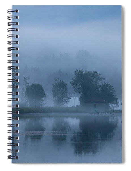 Peaceful Blue Spiral Notebook