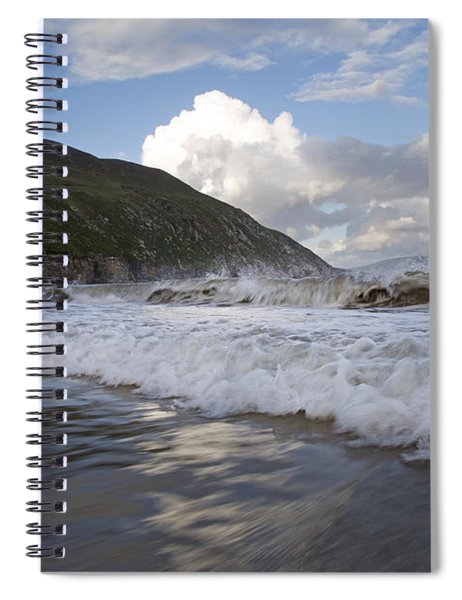 Peaceful Wishes Keem Beach Ireland Spiral Notebook