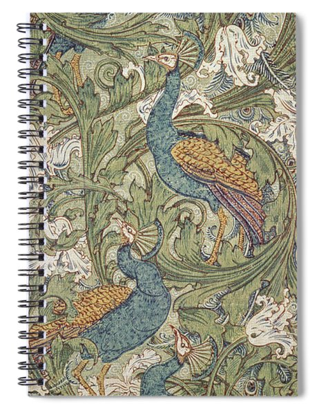 Peacock Garden Wallpaper Spiral Notebook