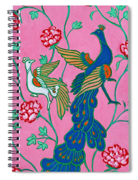 Peacocks Flying Southeast Spiral Notebook