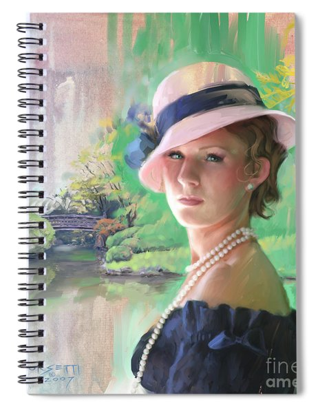 Pearls And Pink Spiral Notebook