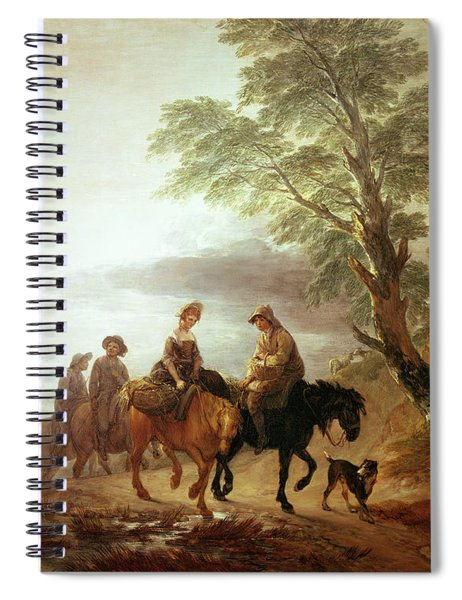 Peasants Going To Market Early Morning Spiral Notebook
