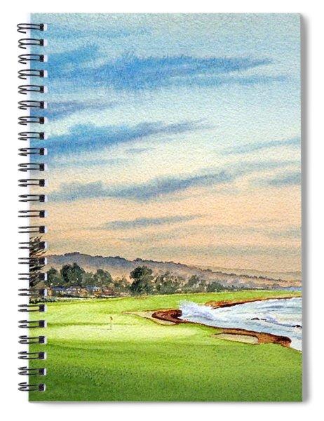 Pebble Beach Golf Course 18th Hole Spiral Notebook