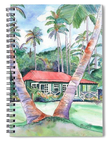 Peeking Between The Palm Trees 2 Spiral Notebook