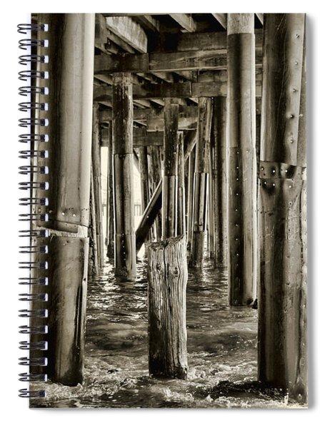 Peeking Under The Pier By Diana Sainz Spiral Notebook