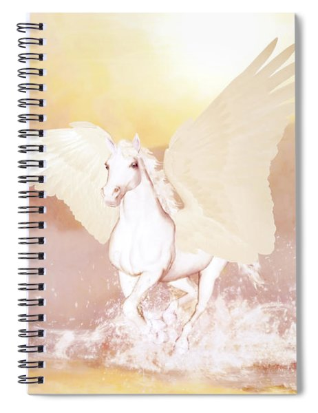 Pegasus   Spiral Notebook by Valerie Anne Kelly