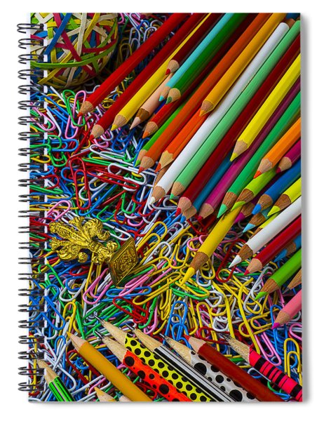 Pencils And Paperclips Spiral Notebook