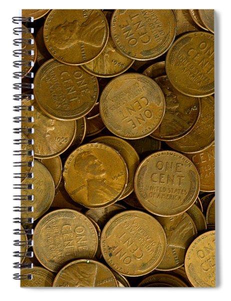 Pennies Spiral Notebook