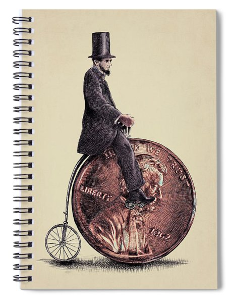 Penny Farthing Spiral Notebook by Eric Fan