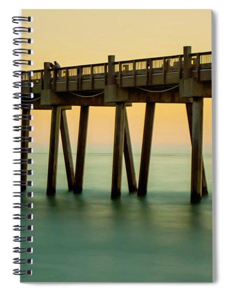 Pensacola Beach Fishing Pier Spiral Notebook
