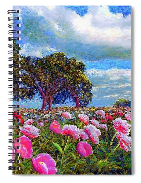 Peony Heaven Spiral Notebook
