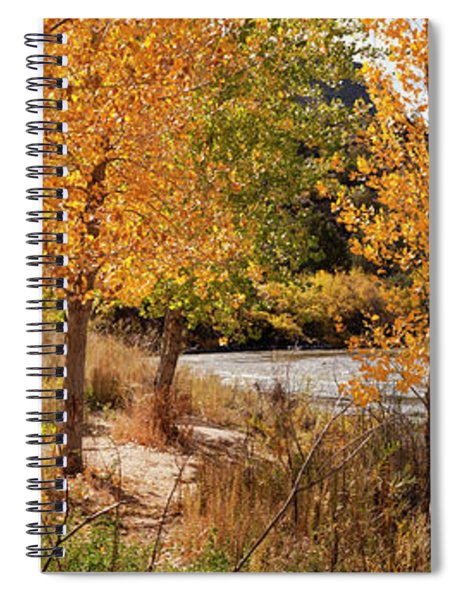 People Fishing In The Rio Grande River Spiral Notebook