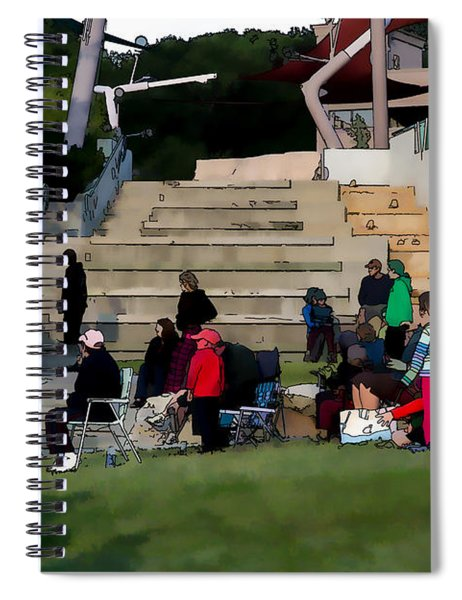 People In The Park Spiral Notebook
