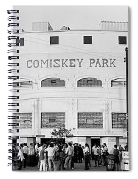 People Outside A Baseball Park, Old Spiral Notebook