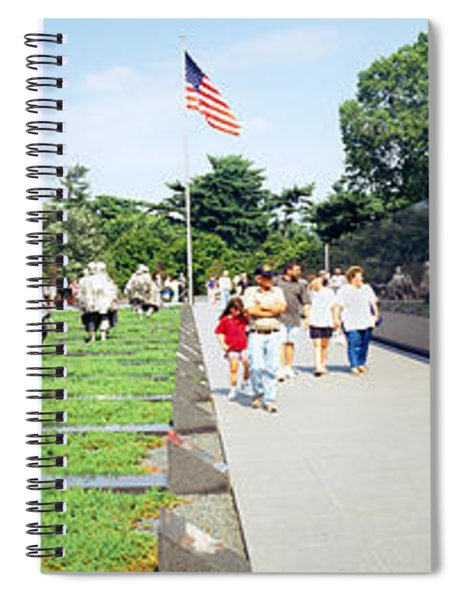 People Visiting The Korean War Spiral Notebook