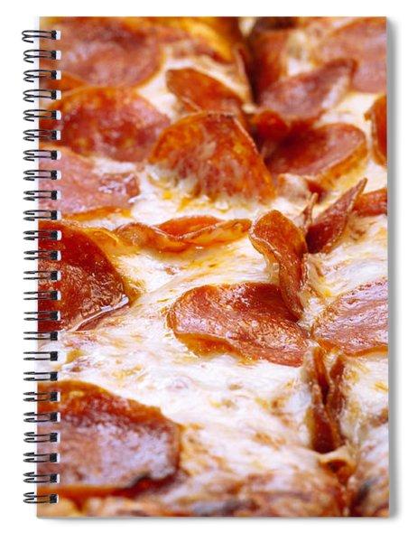 Pepperoni Pizza 1 - Pizzeria - Pizza Shoppe Spiral Notebook