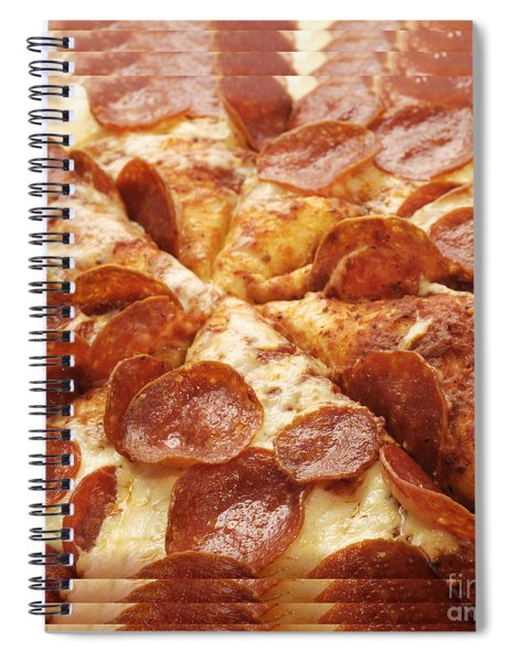 Pepperoni Pizza 25 Pyramid Spiral Notebook