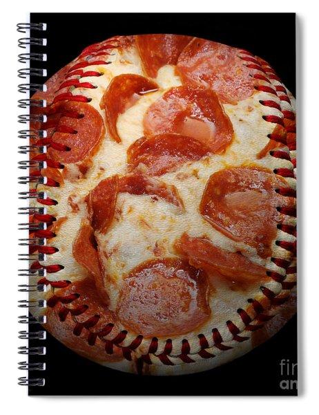 Pepperoni Pizza Baseball Square Spiral Notebook