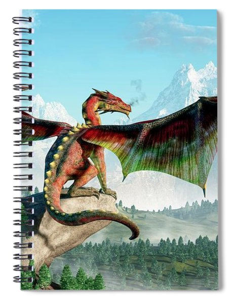Perched Dragon Spiral Notebook