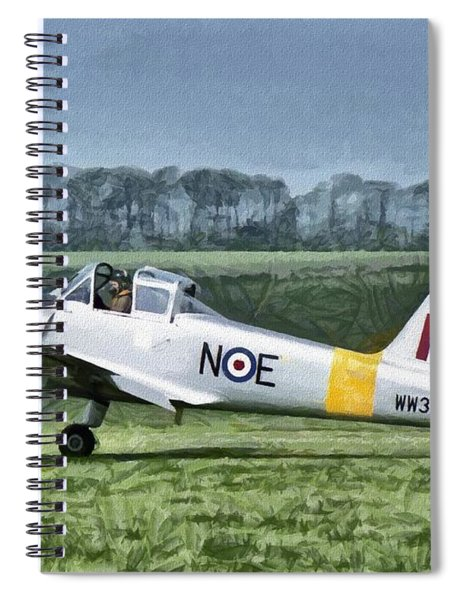 Percival Provost Textured Canvas Spiral Notebook
