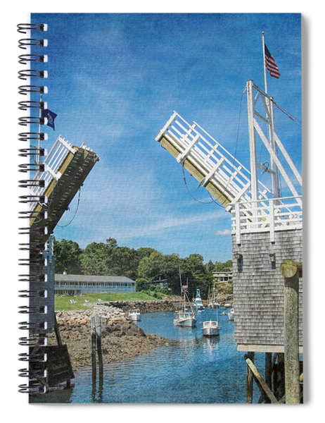 Perkins Cove Drawbridge Textured Spiral Notebook