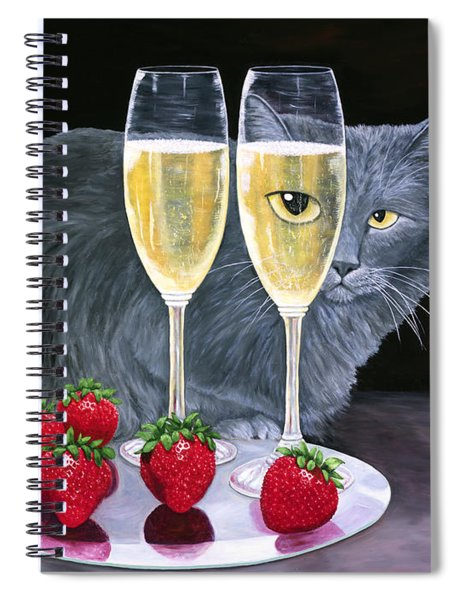 Perrier Jouet Et Le Chat Spiral Notebook