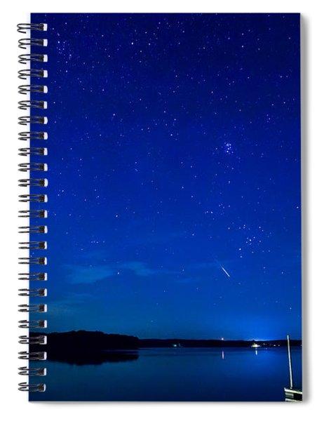 Perseid Meteor Spiral Notebook